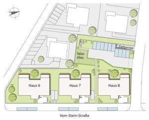 projektierte Mehrfamilienhäuser